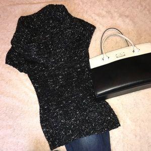 Oversized Cowl Short Sleeve Sweater
